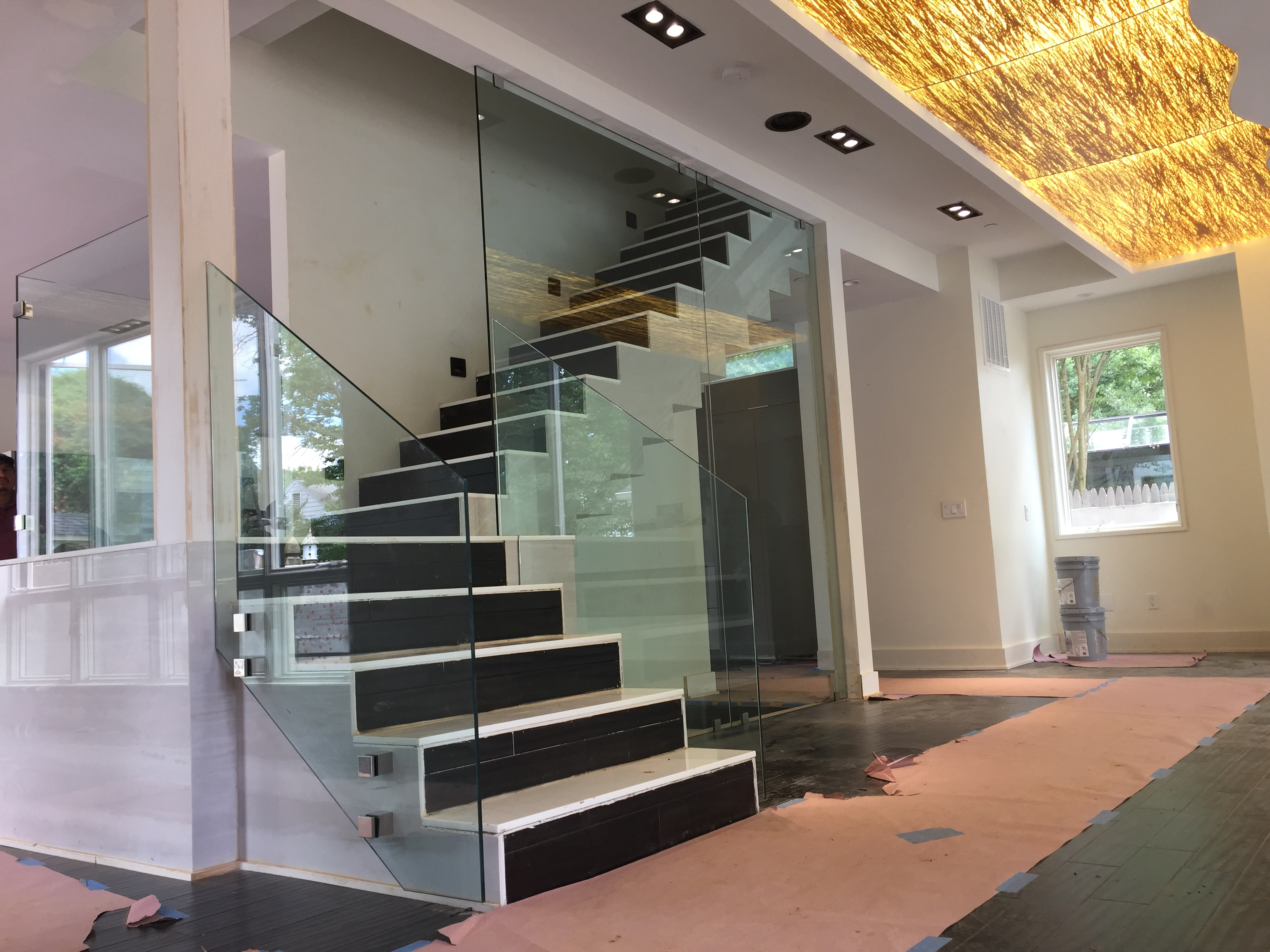 a residential glass railing system in DC VA and MD