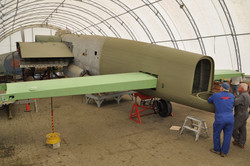 Horizontal stabilizers re-installed