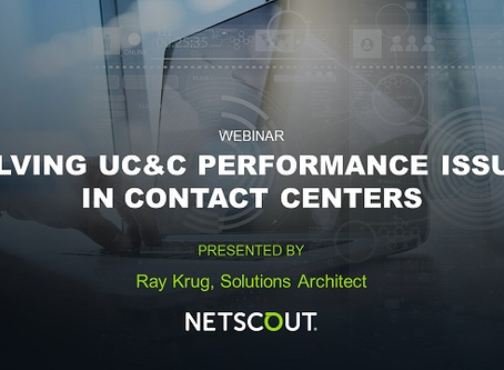 Solving UC&C Performance Issues in Contact Centers -Free Webinar Nov. 12, 1PM ET