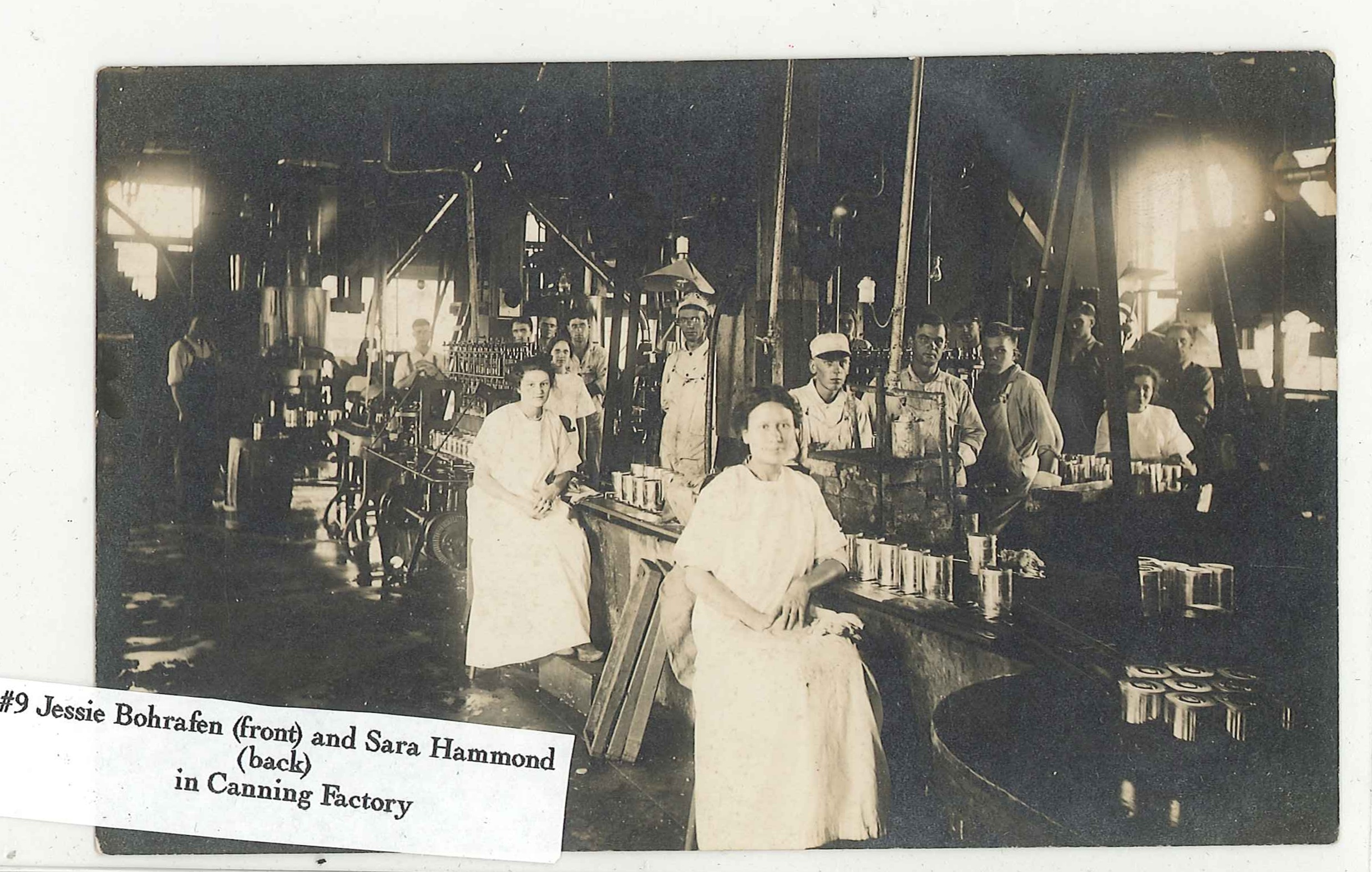 Workers Inside Canning Factory