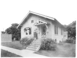 Telephone Company Building.Jo Slaughter & Employee.1st Block South of Highway 44 on Main Street