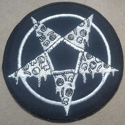 Pizza Pentagram Embroidered Patch