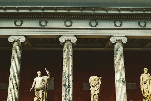"""10"""" x 20"""" Canvas Print - Greek/Roman Statues"""