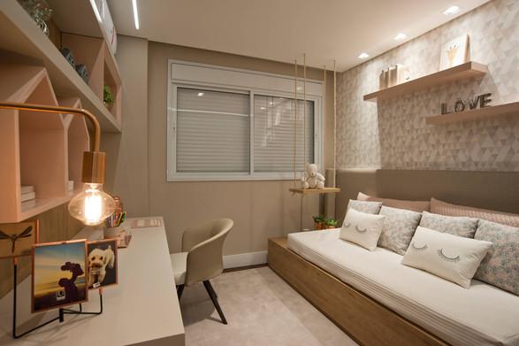 Suíte menina apartamento decorado