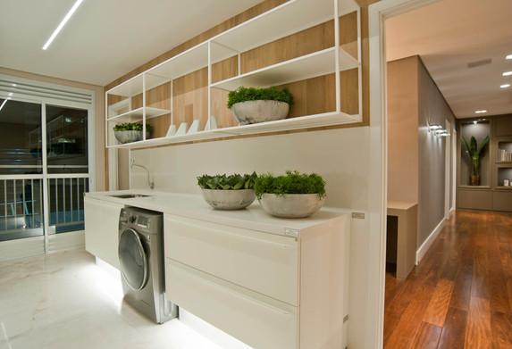 Lavanderia apartamento decorado