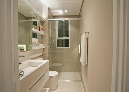 Banheiro suíte menina apartamento decorado
