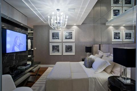 Suíte casal apartamento decorado
