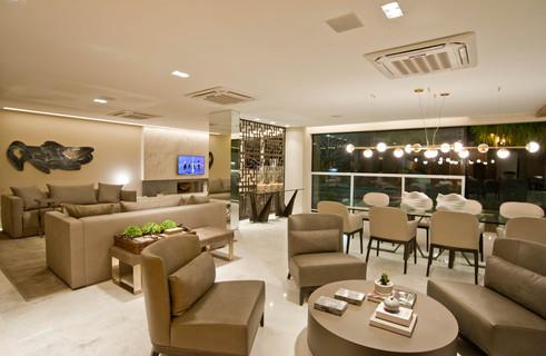 Ambientes estar e jantar apartamento decorado