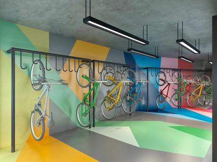 Perspectiva artística do bicicletário