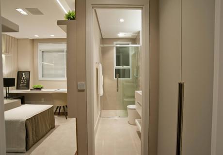 Banheiro suíte menino apartamento decorado