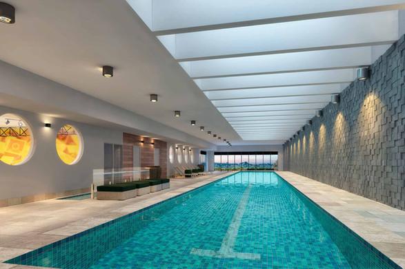 Perspectiva artística piscina coberta (raia 25m)