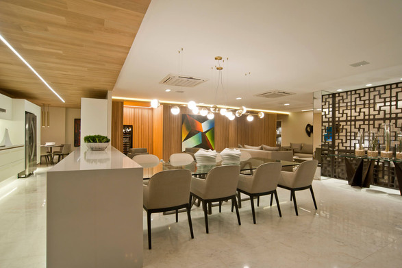Cozinha e jantar apartamento decorado