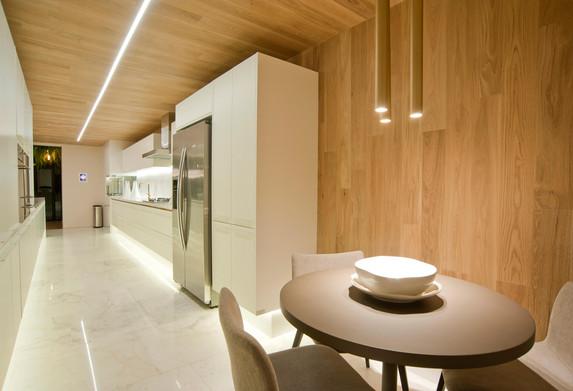 Cozinha e café da manhã apartamento decorado