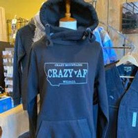 Crazy AF Crossover Cowl Neck Hoodie