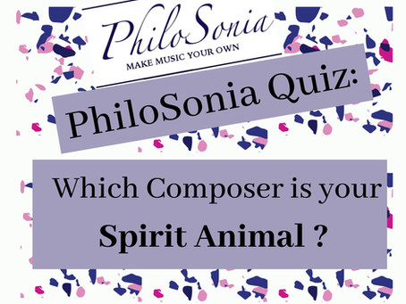 {PhiloSonia Quiz} Which Composer Is Your Spirit Animal?