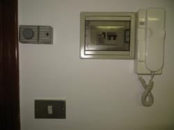 Citofono, termostato e interruttore