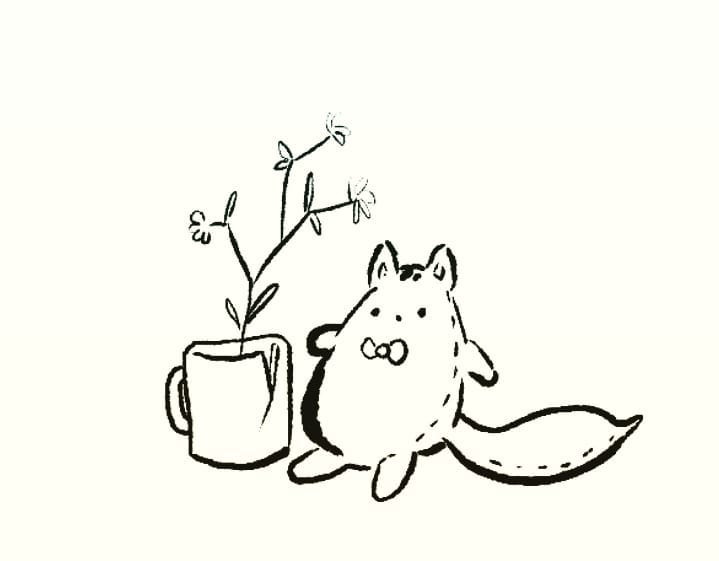 Kitty and Cup Sketch