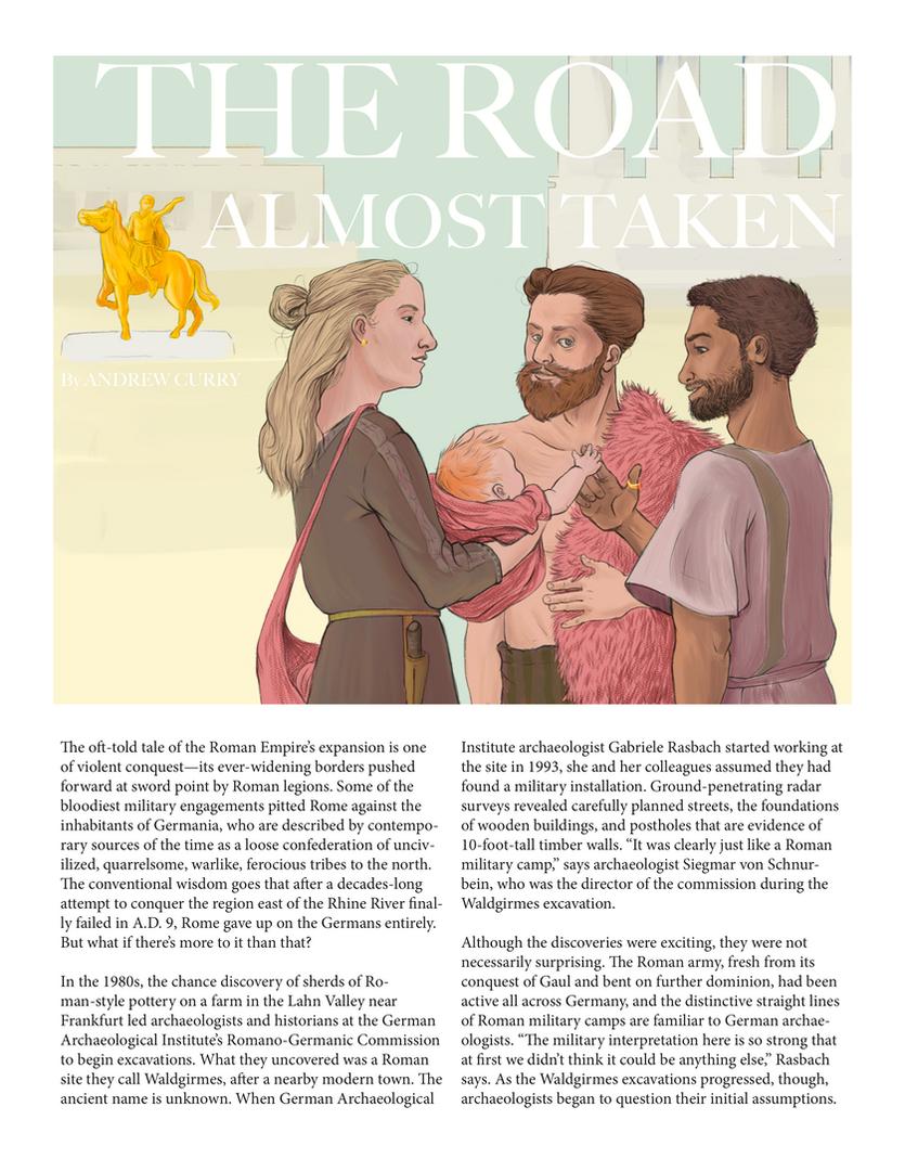 Mock Archaeological Editorial Illustration