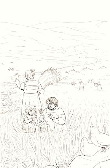 Unangax Village Illustration, Freelance