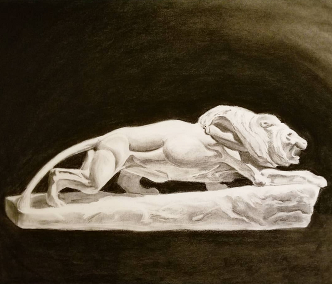Study of Lion Bust