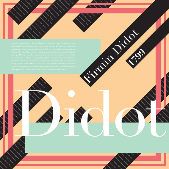Didot Poster