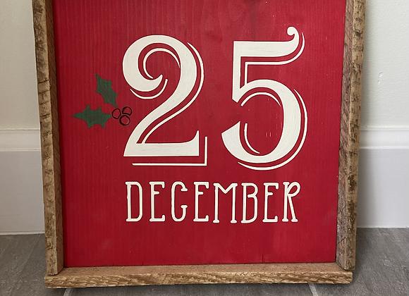 December sign