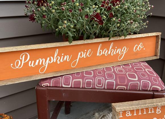 Pumpkin pie baking co. sign