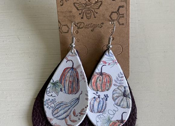 Pumpkin Double Layer Earring