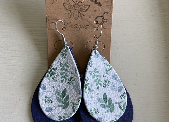 Greens Double Layer Earring