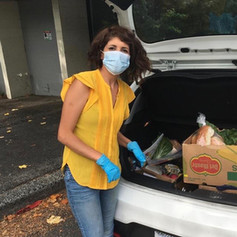 CFSW delivering a food box