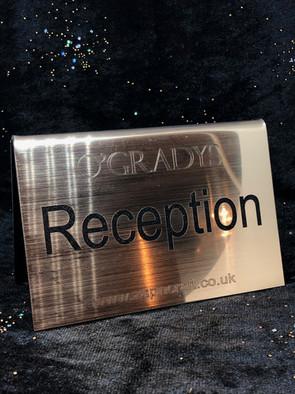 O'Gradys Reception Sign