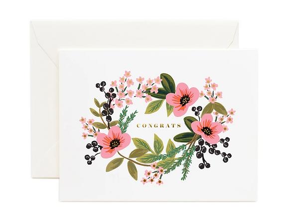 Rifle Paper Congrats Bouquet Card
