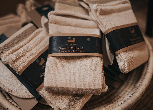 Organic Cotton & Linen Back Strap