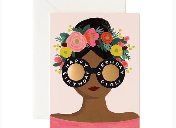 Rifle Paper Paper Flower Crown Birthday Card