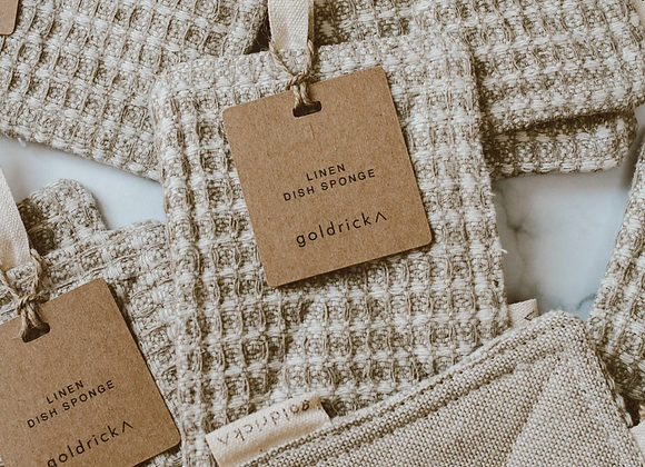 None Dish Sponge | Made From Natural Linen