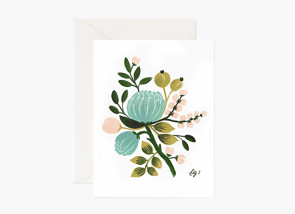 Rifle Paper Co. Blue Floral Card