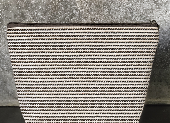 Large Striped Cosmetic Bag