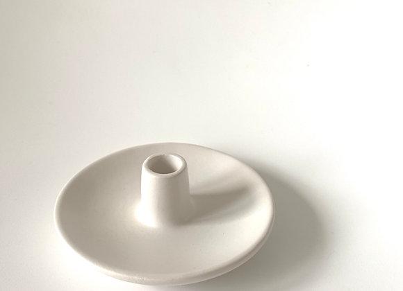 Matte white mini candle holder