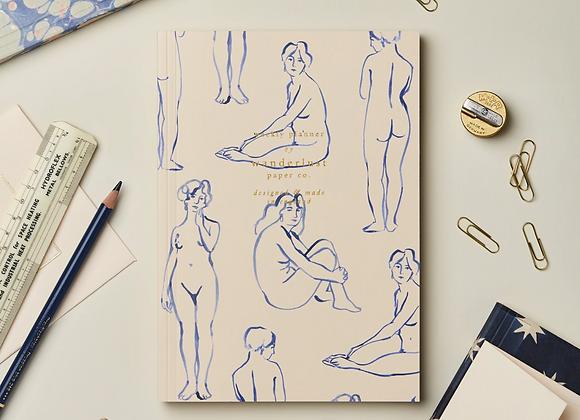 Weekly Planner   Blue Nudes
