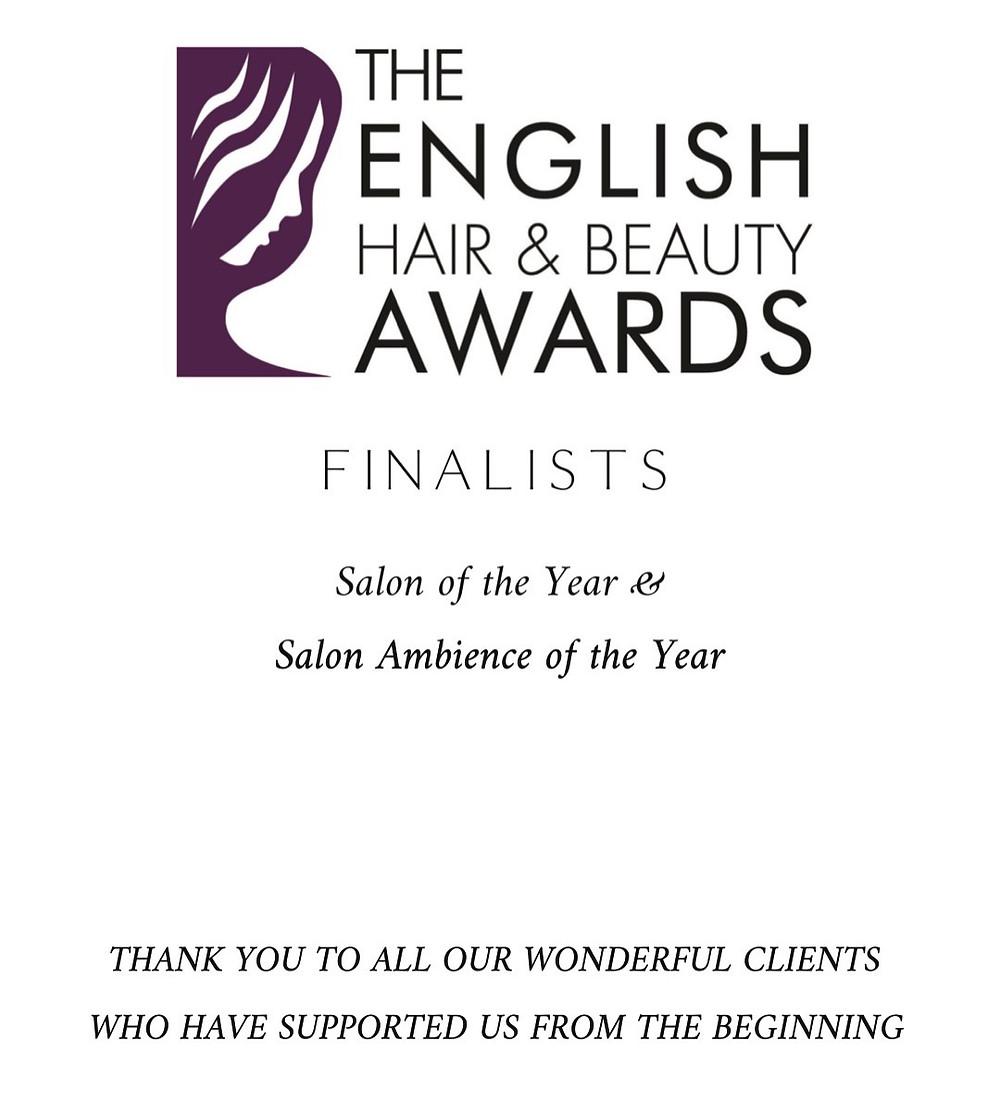 English hair and beauty awards 2020