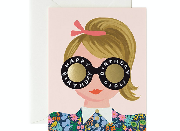 Rifle Paper Co. Meadow Girl Birthday Card