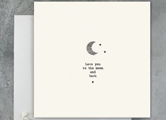 To the Moon + Back Card