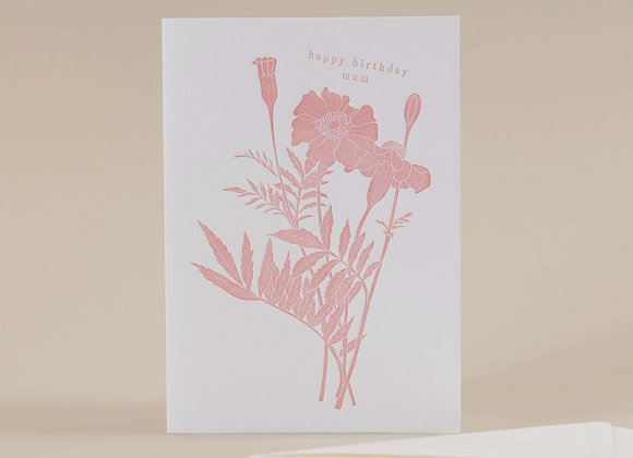 Happy Birthday Mum Blush card