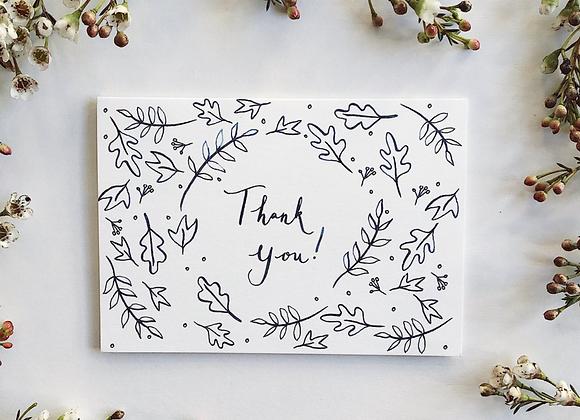 'Leafy' Thank you card