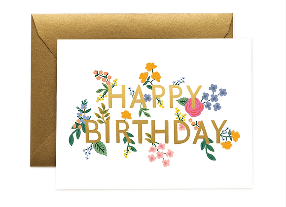 Rifle Paper Wildwood Birthday Card