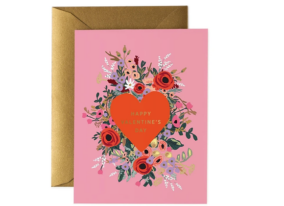 Rifle Paper Blooming Heart Valentine's Day Card