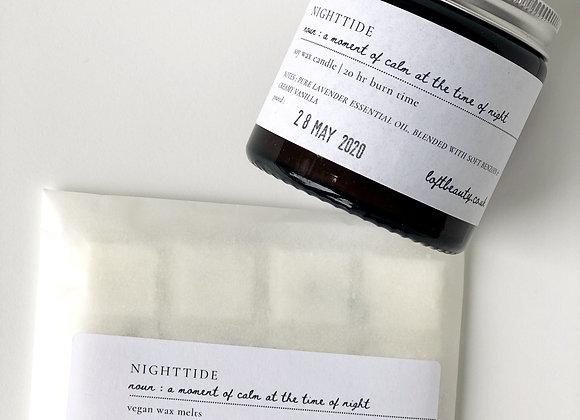 N I G H T T I D E Soy Candle + Wax Melts set