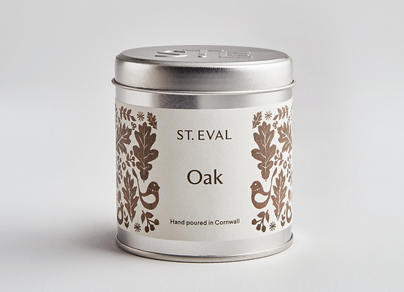 ST. EVAL Oak Scented Tin Candle