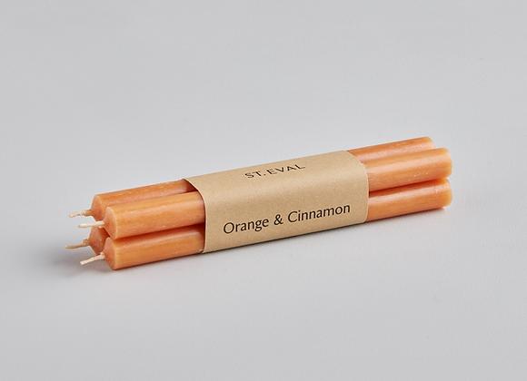 Church Candles (Bundles of 4) Orange & Cinnamon