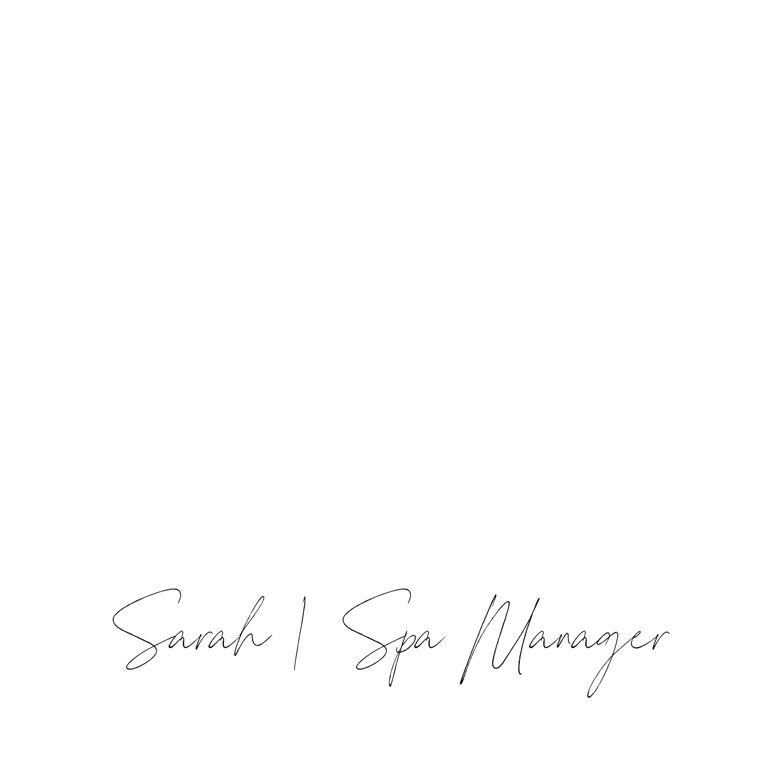 Sarah | Spa Manager